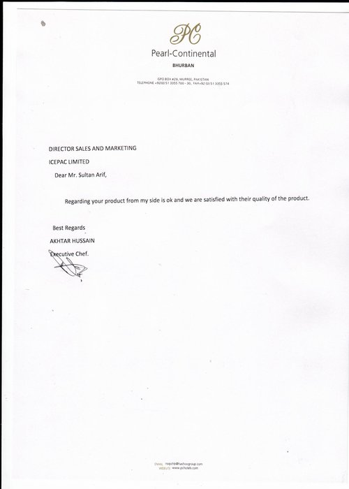 Letter by PC Burban