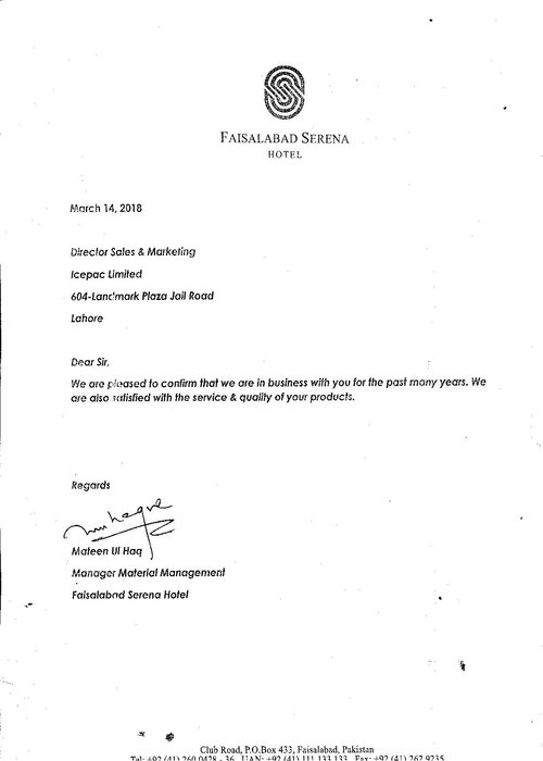 Letter by serena Faisalabad