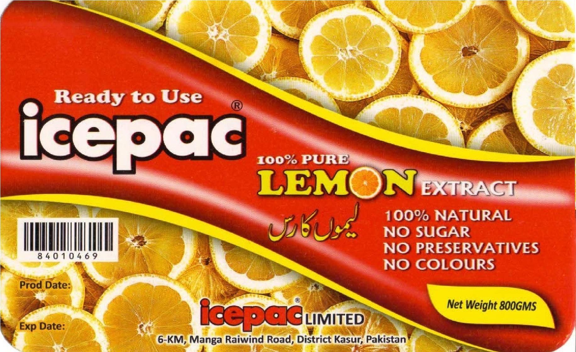 Icepac Lemon Extract